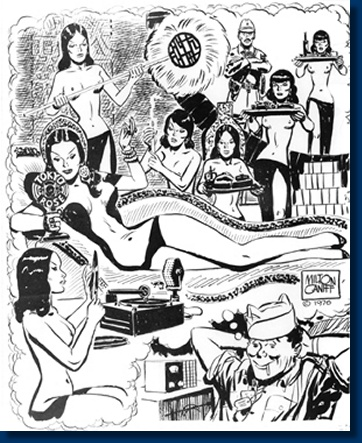Milton Caniff's drawing of the average GI's vision of Tokyo Rose